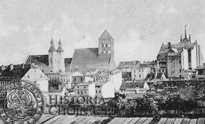 <br/>Panorma Chojnic. Ok. 1910 r.