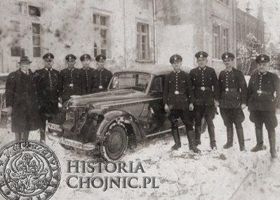 <br/>Kurs kierowników Straży Pożarnej w Chojnicach. Lata 30.