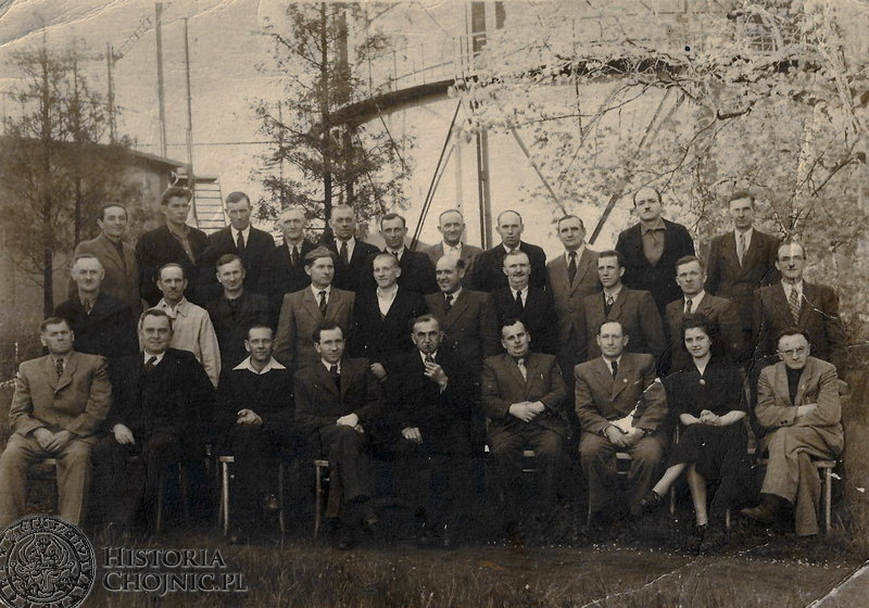 Pracownicy chojnickiej gazowni.