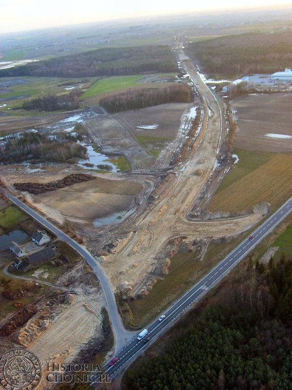 O wielkości przedsięwzięcia jaką jest budowa obwodnicy dla Chojnic, najlepiej było można przekonać się z … przestworzy.