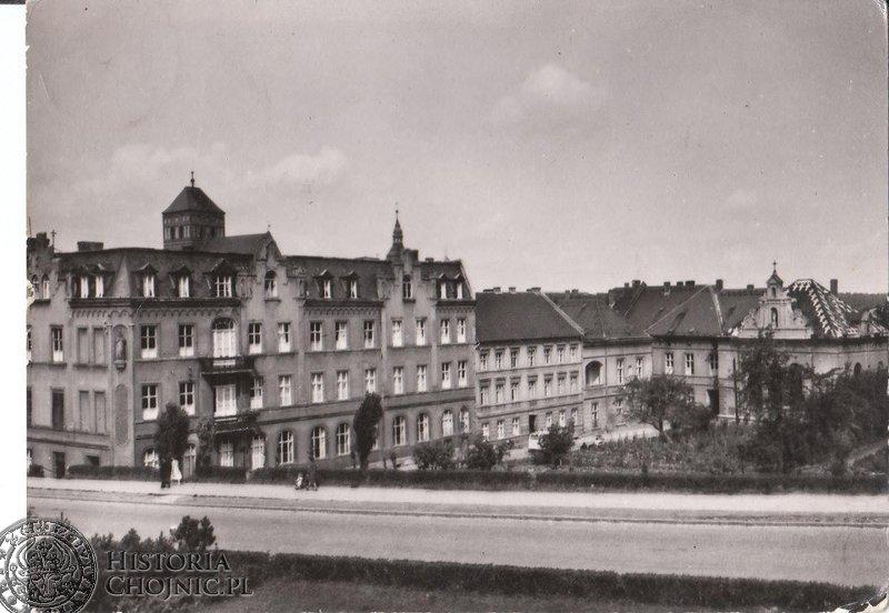 Budynek dawnego szpitala. Lata 60.