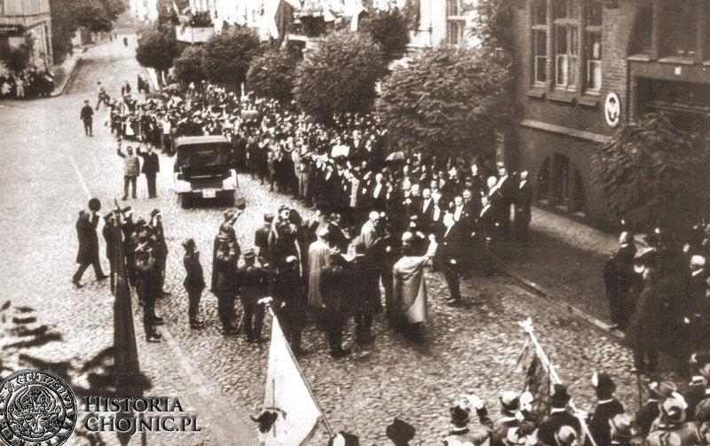 Chojnice. Prezydencka wizyta. Sierpień 1924 r.