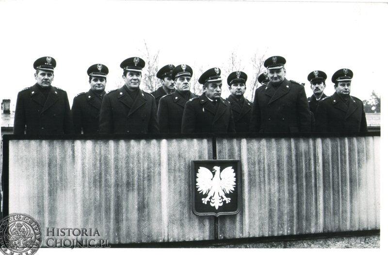 Rok 1980. Uroczysta zbiórka w 1980 r. w jednostce Wojskowej w Nieżychowicach.