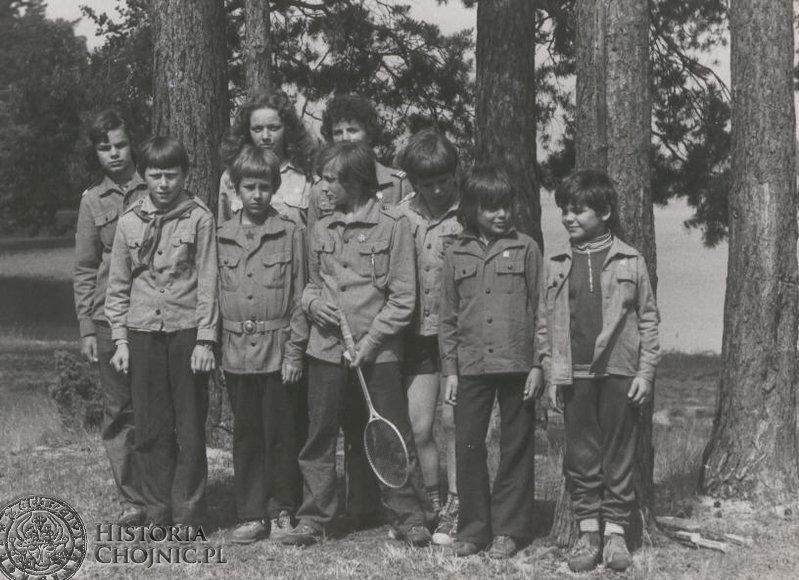 Lata 1970 - 1980.  Obóz harcerski