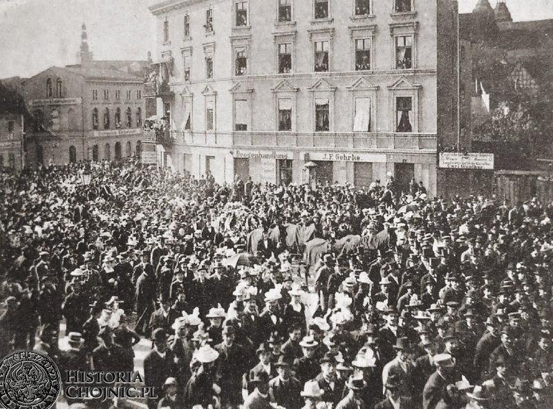 Pogrzeb zamordowanego E. Wintera. 27.05.1900 r.