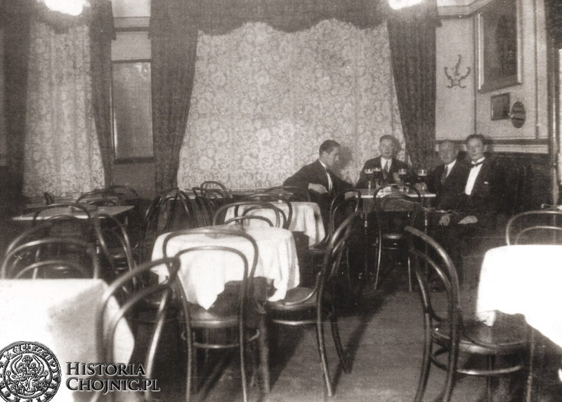 Sala restauracyjna hotelu Priebe J. Kallety. Ok. 1935 r.