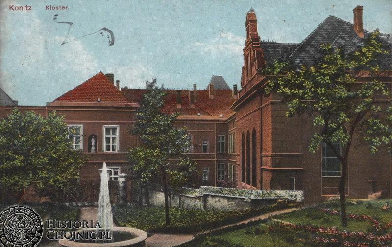 Klasztor i fragment ogrodu. Ok. 1915 r.