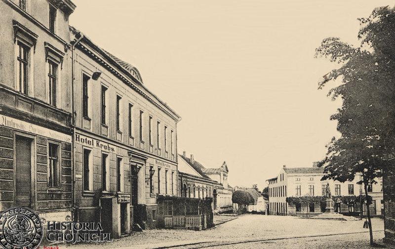Budynek Hotelu Krebs przy Wilhelmsplatz. Ok. 1910 r.