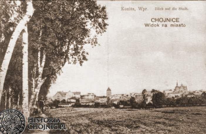 Widok na Chojnice od strony ul. Brzozowej.