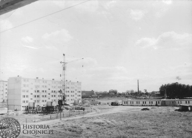 Budowa oś.mieszkaniowego w Chojnicach.