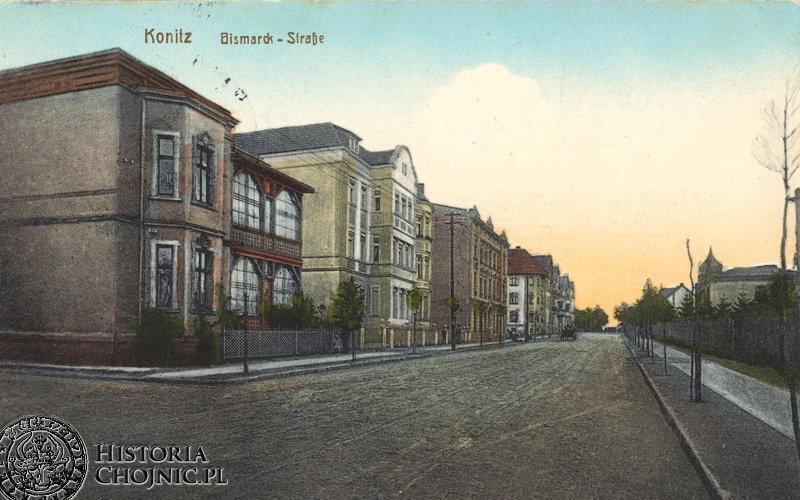 Obecna ul. Warszawska (Bismarcka) ok. 1908 r.