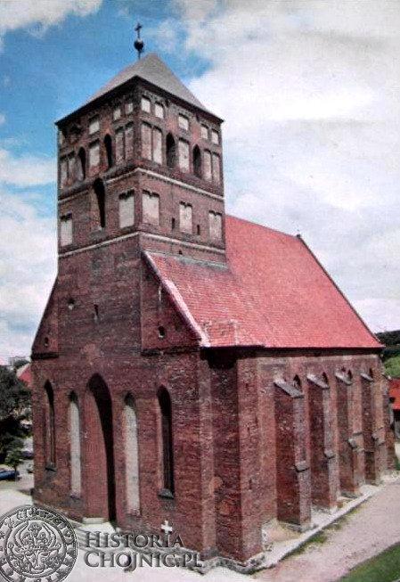 Kościół p.w. św. Jana Chrzciciela. Widok z 1978 r.