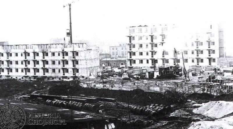 Budowa osiedla Spółdziecza. Ok. 1971 r.