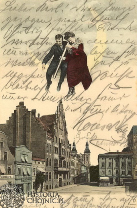 Kartka pocztowa z początku XX w.