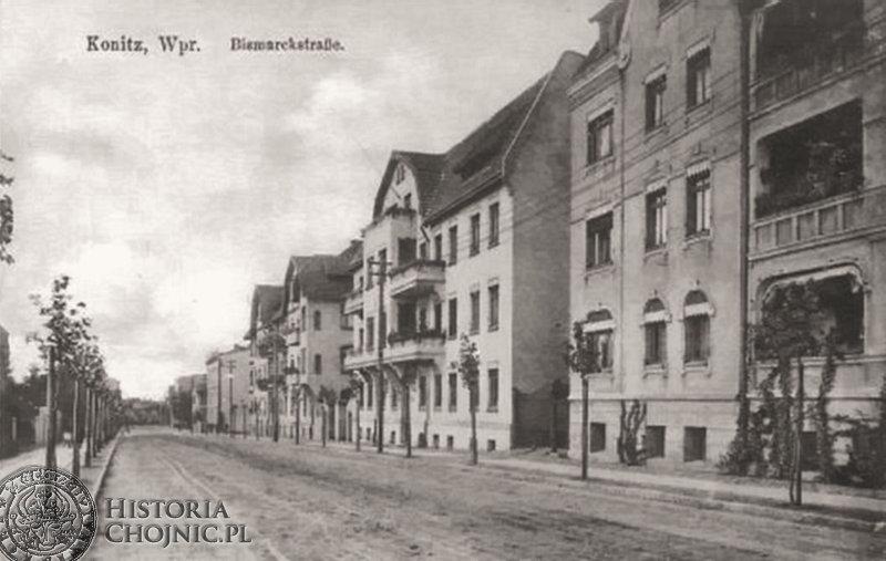 Kamienice przy ob. ul. Warszawskiej. Ok. 1910 r.