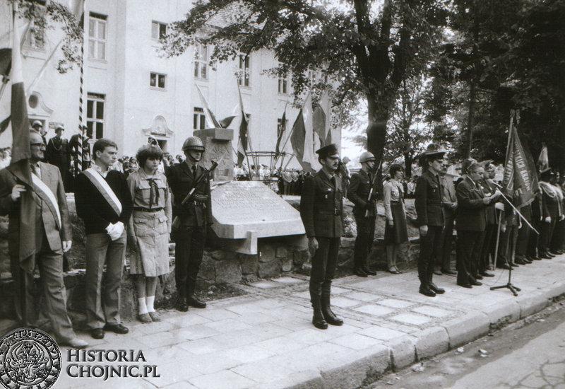 Odsłonięcie pomnika przy ul. Świętopełka.