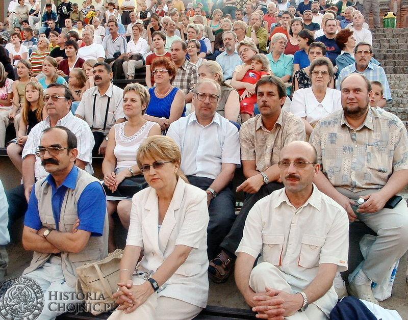 Na widowni podczas prezentacji Międzynarodowego Festiwalu Folkloru   zasiedli przedstawiciele władz miejskich.