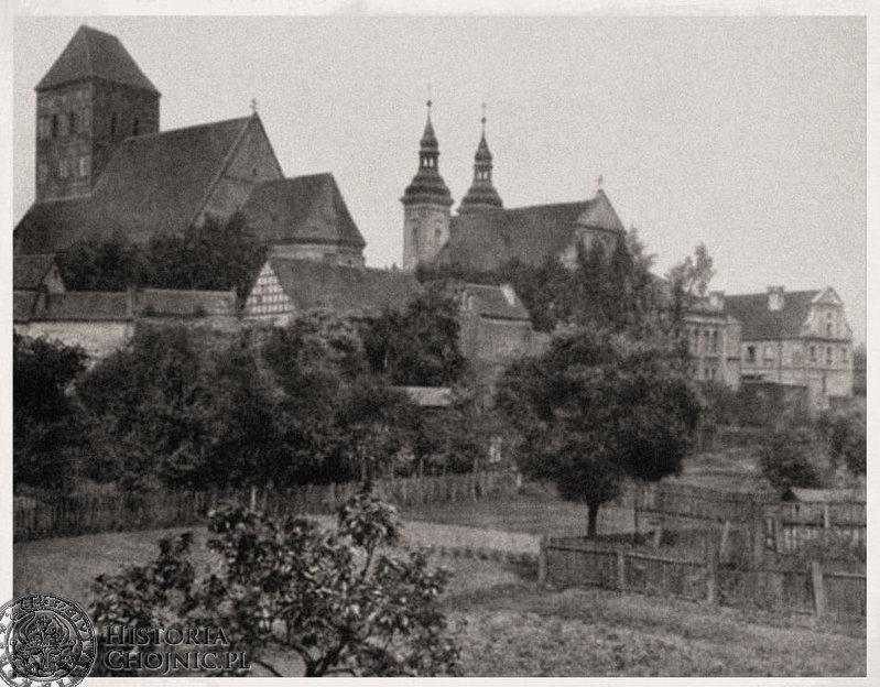 Widok na kościoły. Ok. 1924 r.
