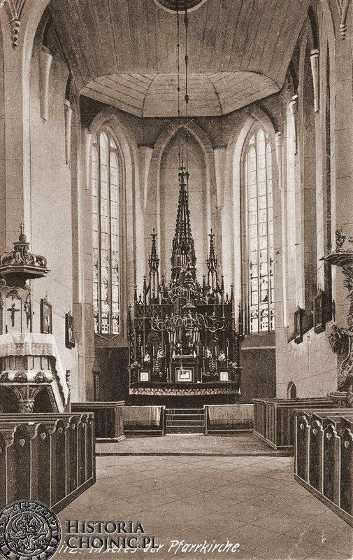 Ołtarz w kosciele farnym p.w. św. Jana Chrzciciela.