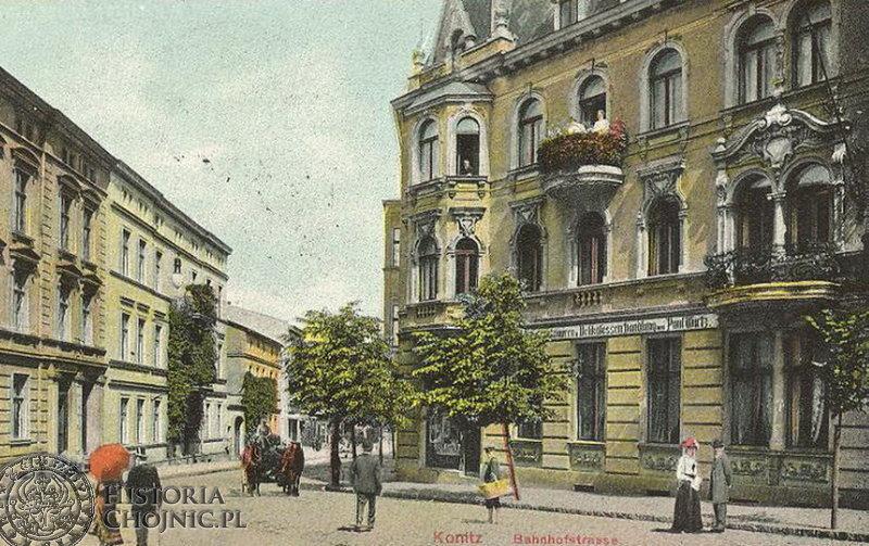 Fragment dawnej ul. Dworcowej. Ok. 1906 r.