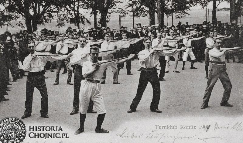 Towarzystwo Sportowe Turnklub z Chojnic. ok. 1900 r.