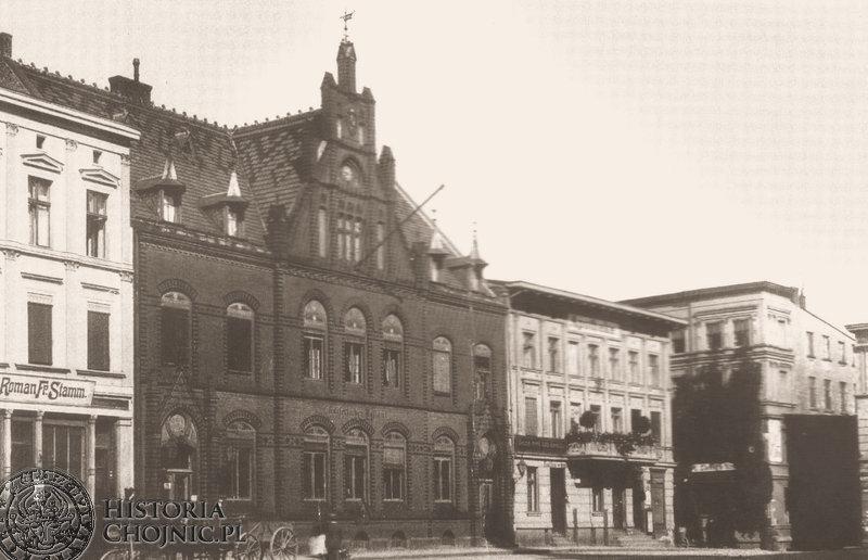 Rynek - budynek poczty. Ok. 1915 r.