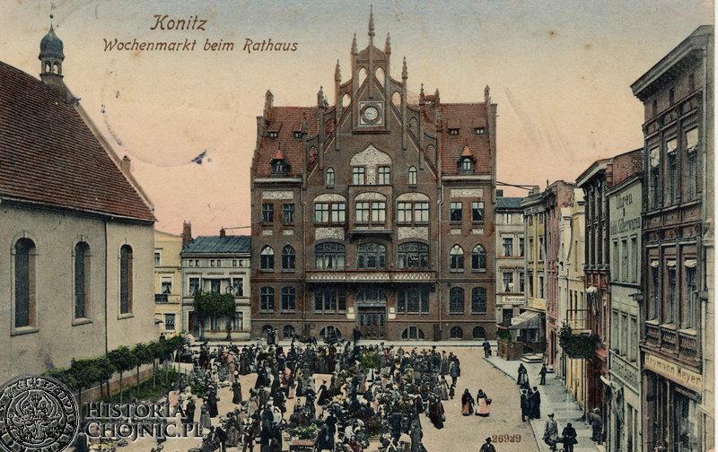 Rynek - dzień targowy. Ok 1915 r.