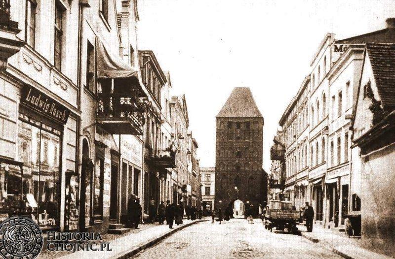 Dawna ulica Człuchowska. Ok. 1910 r.