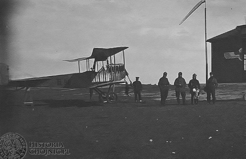Dawne lotnisko w Chojnicach, ok 1916 r.