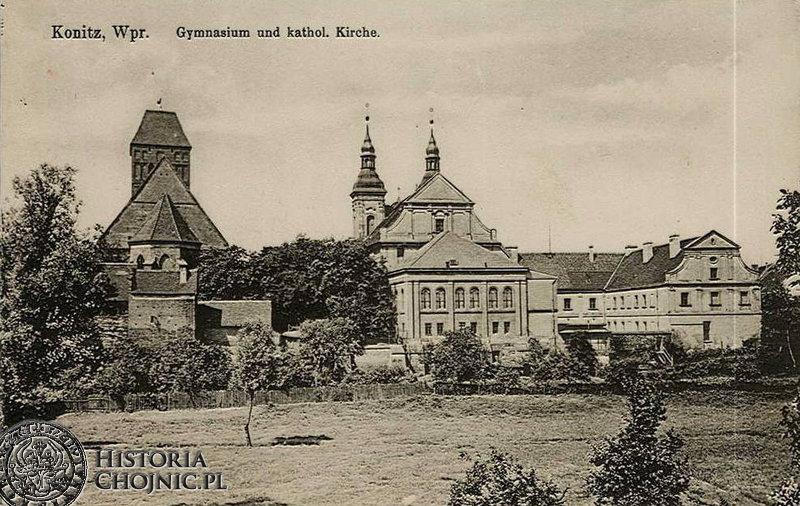 Panorama - kościoly. Ok 1910 r.