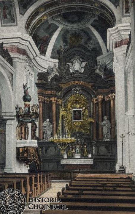 Ołtarz w kościele gimnazjalnym. Ok.1915 r.