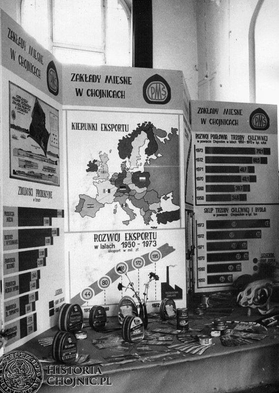 Stoisko Zakładow Mięsnych na wystawie w Domu Rzemiosła. 1973 r.