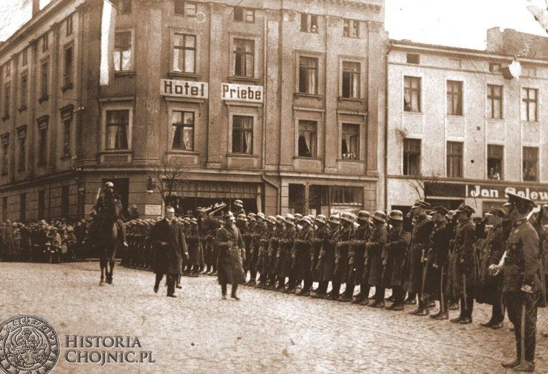 Kompania honorowa I Batalionu Strzelców. Ok 1923 r.