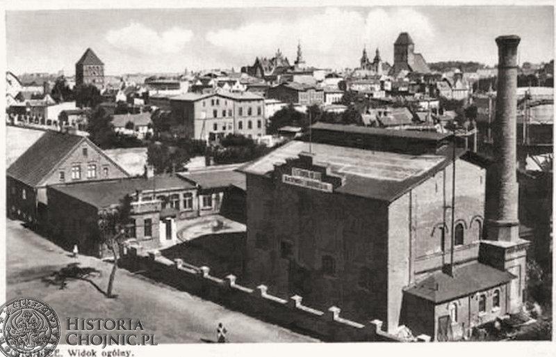 Zabudowania gazowni i wodociągów. Ok. 1939 r.