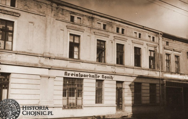 Budynek Powiatowej Kasy Oszczędnosciowej powiatu chojnckiego. Ok. 1918 r.