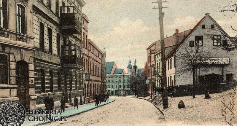 Fragment dawnej ul. Dworcowej. Ok. 1915 r.
