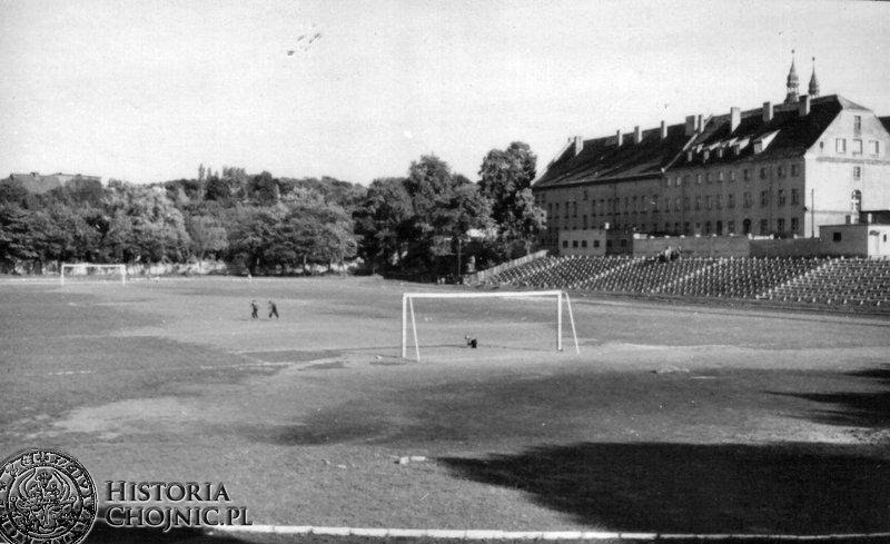 Stadion Chojniczanki. lata 60.