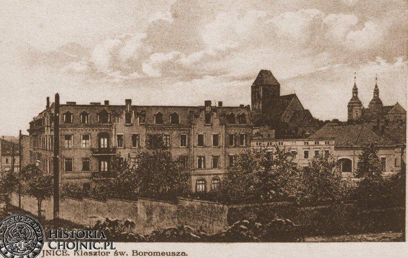 Zabudowania zakladu św. Boromeusza. Ok. 1921 r.