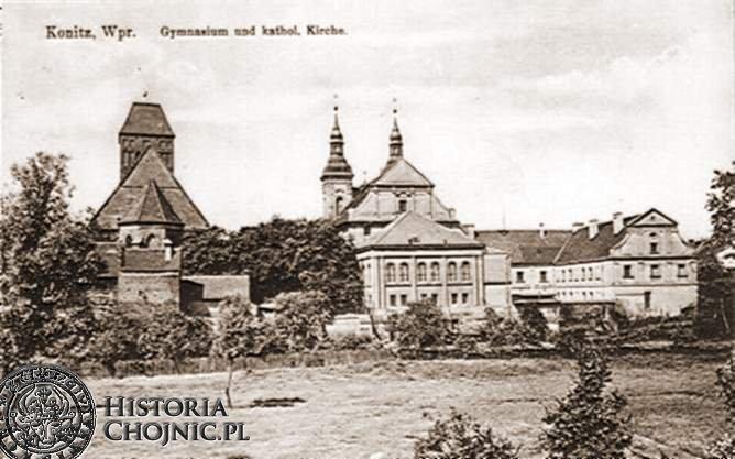 Kościóły i gimnazjum. Ok. 1910 r.