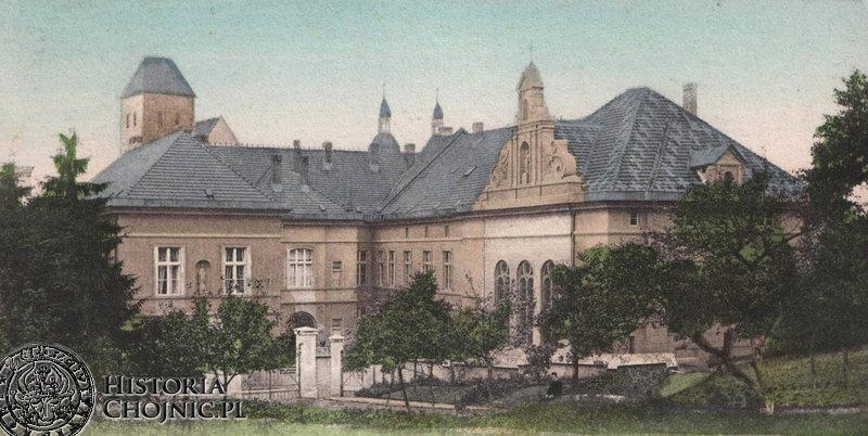 Zabudowania klasztorne. Ok. 1915 r.