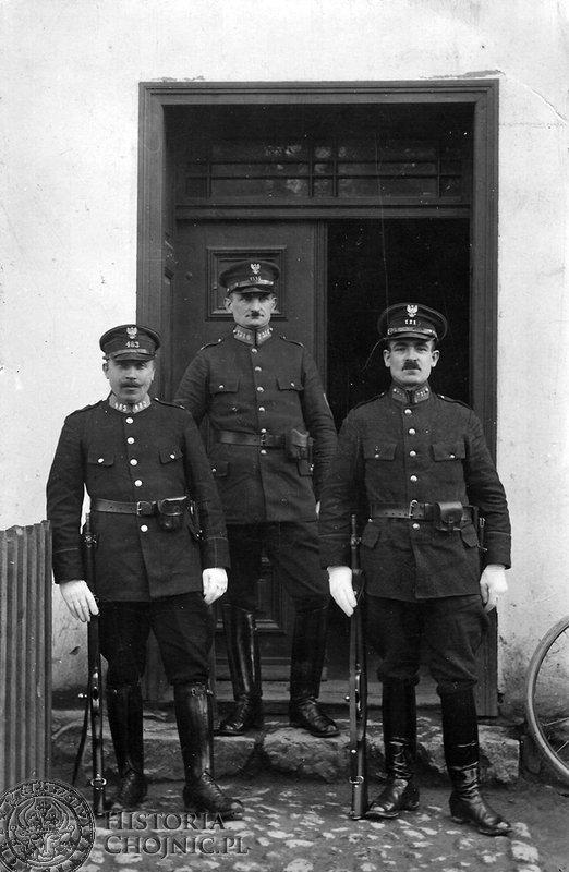 Policjani z Chojnic. Lata trzydzieste.