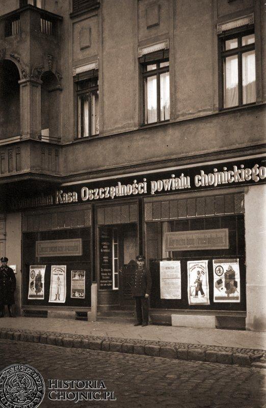Budynek Powiatowej Komunalnej Kasy Oszczędnosci. Lata 30.