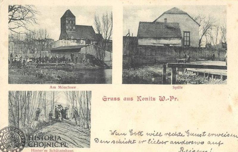 Karta pocztowa Chojnice. Poczatek XX w.