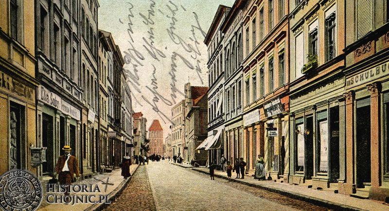 Kamienice przy dawnej ul. Gdańskiej. Ok. 1910 r.