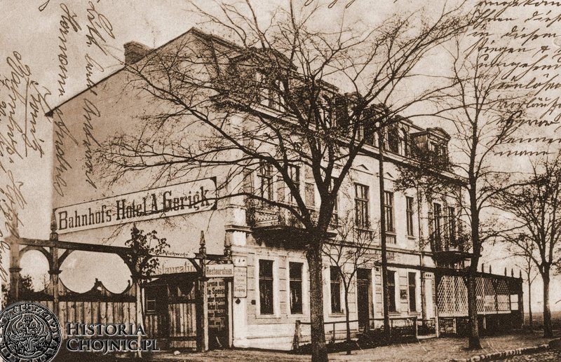 Hotel Dworcowy przy ul. Dworcowej. Ok. 1915 r.
