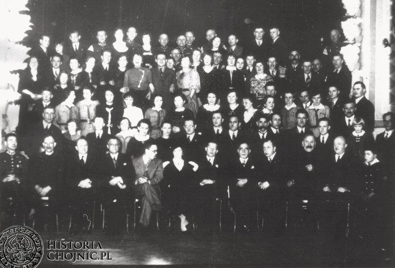 Polacy z Niemiec w gościnie kręgu starszo - harcerskiego w Chojnicach.  7.02.1937 r.