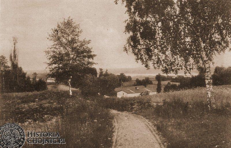 Droga z Chojnic do miescowosci Charzykowy. Początek XX w.