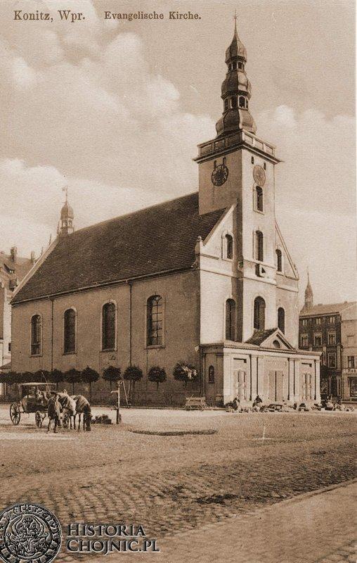Kościół p.w. św. Trójcy. Rynek. Ok. 1915 r.