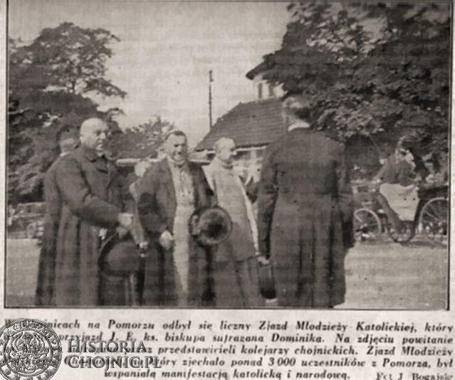 Goście Zjazdu Młodzieży Katolickiej w Chojnicach. 1928 r.