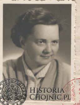 S. Lewińska, długoletnia nauczycielka.